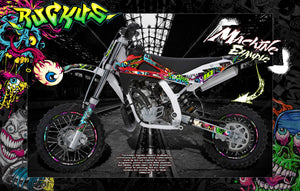HUSQVARNA CR50 CR65 TC50 TC65 TC85 HUSKY BOY GRAPHICS DECALS 'RUCKUS' - Darkside Studio Arts LLC.
