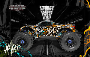 "TRAXXAS MAXX 4S 1/10 HOP-UP GRAPHICS WRAP DECALS ""AMPED"" FITS STOCK BODY TRA8914 - Darkside Studio Arts LLC."
