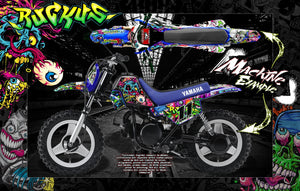 "GRAPHICS WRAP YAMAHA PW50 PW80 PEE-WEE ""RUCKUS"" SKIN FOR DIRTBIKE DECALS - Darkside Studio Arts LLC."