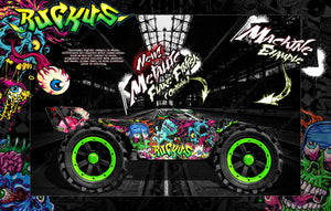 "ARRMA KRATON GRAPHICS WRAP DECALS ""RUCKUS"" WITH CUSTOM COLORS FOR #AR406050 - Darkside Studio Arts LLC."