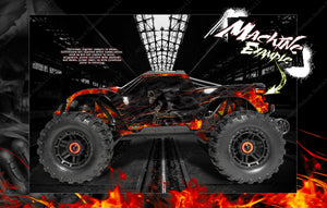 "TRAXXAS MAXX 4S 1/10 HOP-UP GRAPHICS WRAP DECALS ""HELL RIDE"" FITS STOCK BODY TRA8914 - Darkside Studio Arts LLC."