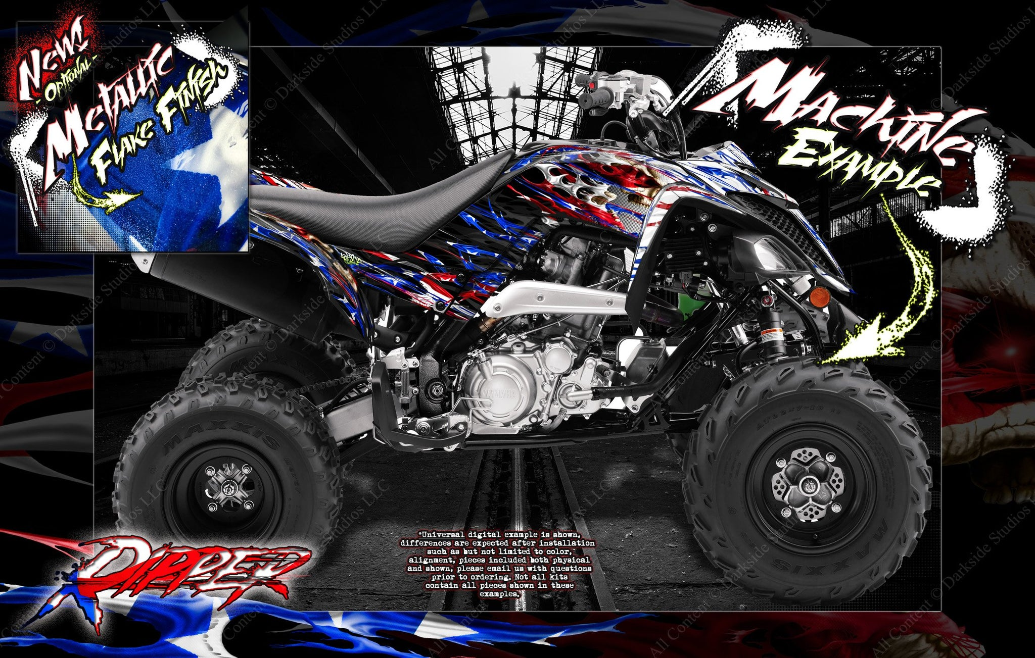 "YAMAHA RAPTOR 700 2013-2019 /""THE FREAK SHOW/"" GRAPHICS FOR WHITE /& RED PARTS 700R"