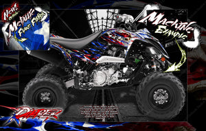'RIPPER' FULL COVERAGE GRAPHICS WRAP DECAL KIT FITS YAMAHA RAPTOR 700 2006-2020 - Darkside Studio Arts LLC.