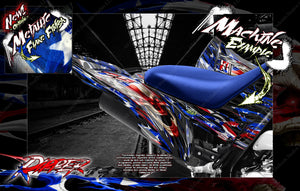'RIPPER' FULL COVERAGE GRAPHICS WRAP DECAL KIT FITS YAMAHA RAPTOR 700 2006-2020