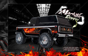 TRAXXAS TRX-4 BRONCO HOP-UP AIRBRUSHED STYLE BODY GRAPHICS 'HELL RIDE' FITS TRA8010X - Darkside Studio Arts LLC.