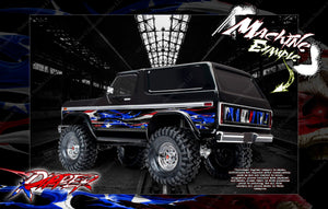 TRAXXAS TRX-4 BRONCO HOP-UP AIRBRUSHED STYLE BODY GRAPHICS 'RIPPER' FITS TRA8010X - Darkside Studio Arts LLC.