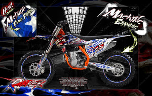 'RIPPER' GRAPHICS WRAP DECAL KIT FITS KTM 2012-2019 EXC XCW 250 300 450 525 - Darkside Studio Arts LLC.