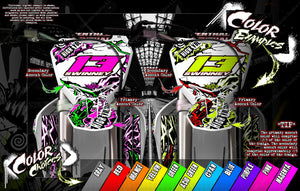 YAMAHA RAPTOR 700 2006-2019 GRAPHICS WRAP 'AMPED' WITH CUSTOM COLOR CHOICE - Darkside Studio Arts LLC.