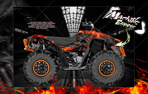 "CAN-AM RENEGADE 500 850 1000 XMR ""HELL RIDE"" GRAPHICS WRAP DECALS KIT FULL COVERAGE SET - Darkside Studio Arts LLC."