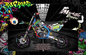 "COBRA GRAPHICS WRAP DECALS ALL MODELS 2002-2020 ""RUCKUS"" CX50 CX65 KING JR SR - Darkside Studio Arts LLC."