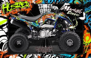 YAMAHA RAPTOR 700 2006-2020 GRAPHICS WRAP 'HUSTLER' SKIN DECAL KIT - Darkside Studio Arts LLC.