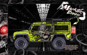 "TRAXXAS TRX-4 GRAPHICS WRAP DECALS HOP-UP PARTS ""MACHINEHEAD"" FITS DEFENDER AND SPORT - Darkside Studio Arts LLC."