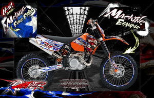 """RIPPER"" SKULL GRAPHIC DECAL WRAP FITS KTM DIRT BIKES 2007-2010 SX SXF 250 300 450 525 - Darkside Studio Arts LLC."