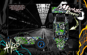 LOSI DESERT BUGGY XL / XL-E WRAP DECAL KIT 'AMPED' FITS LOS250018 AND LOS350000 - Darkside Studio Arts LLC.