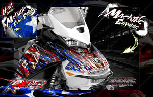 SKI-DOO GEN 4 PARTIAL WRAP GRAPHICS KIT FOR MXZ SUMMIT RENEGADE ADRENALINE 'RIPPER' - Darkside Studio Arts LLC.