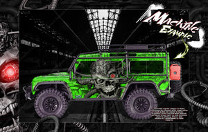 "TRAXXAS TRX-4 GRAPHICS WRAP DECALS HOP-UP PARTS ""MACHINEHEAD"" FITS DEFENDER K5 BLAZER AND SPORT - Darkside Studio Arts LLC."
