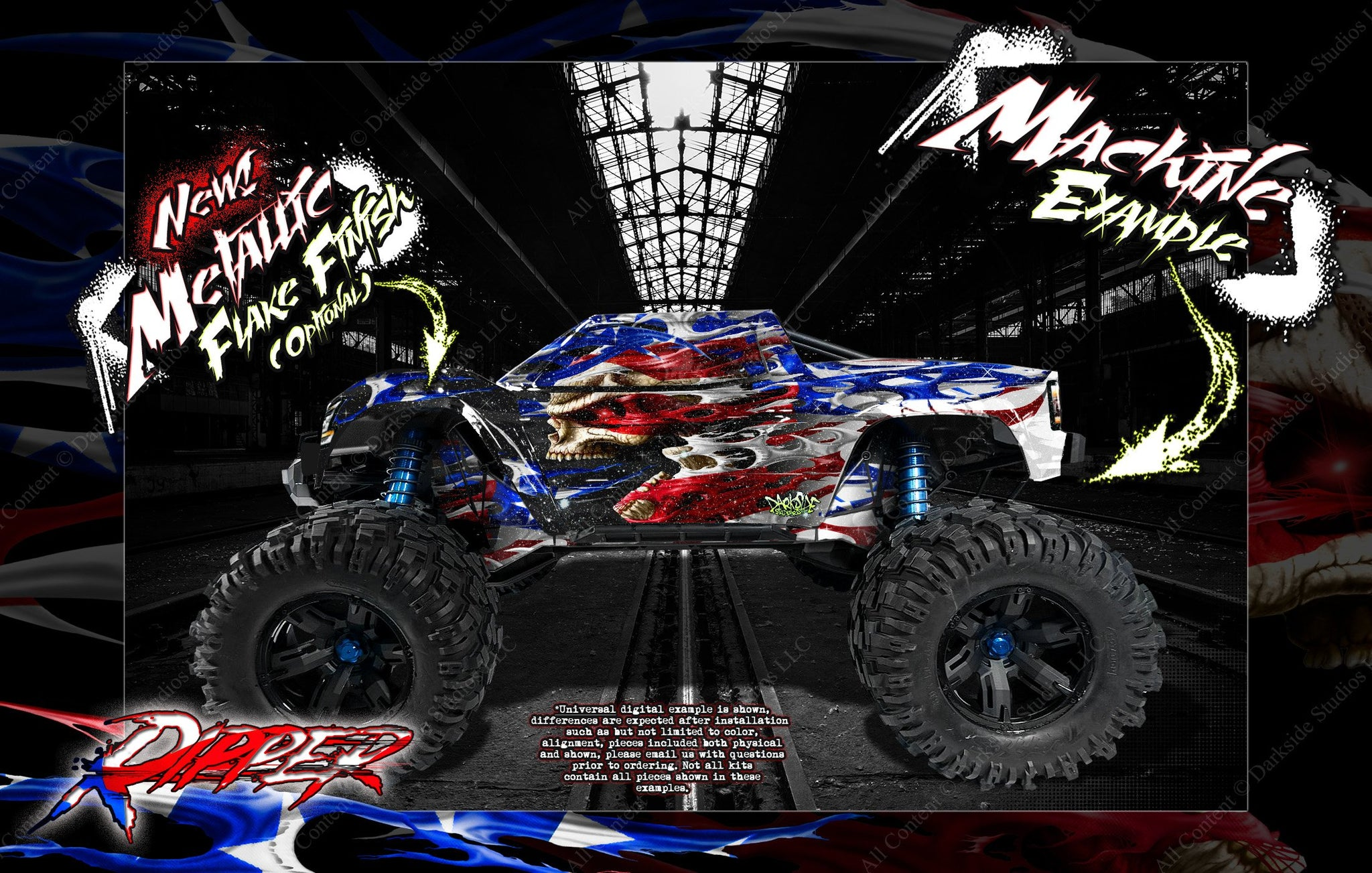 Darkside Studio Arts Lexan and Unbreakable Body Graphics Wraps and