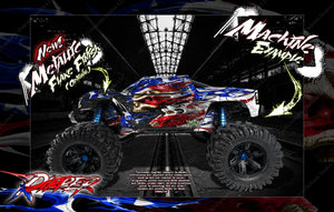 "TRAXXAS X-MAXX GRAPHICS WRAP DECALS ""RIPPER"" FITS PROLINE CHEVY SILVERADO, FORD RAPTOR, BRUTE BASH & STOCK BODY - Darkside Studio Arts LLC."