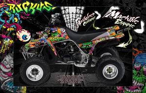 YAMAHA BANSHEE QUAD ATV GRAPHICS WRAP 'RUCKUS' STANDARD AND FULL COVERAGE KIT - Darkside Studio Arts LLC.