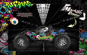 AXIAL YETI 1/8 XL YETI 1/10 GRAPHICS WRAP 'RUCKUS' FITS AX31039 Yeti XL Monster Buggy™ Y-480, AX31140 Yeti 1/10th Scale Y-380 - Darkside Studio Arts LLC.