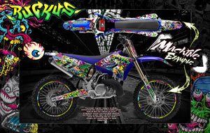 "1996-2019 YZ125 YZ250 ""RUCKUS"" GRAPHICS WRAP SKIN FITS UFO AND RACETECH EVOLUTION PLASTICS - Darkside Studio Arts LLC."