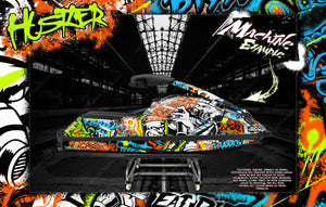 YAMAHA SUPERJET 700 2002-2019 JETSKI WATERCRAFT DECALS WRAP GRAPHICS KIT 'HUSTLER' - Darkside Studio Arts LLC.