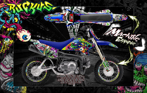 "GRAPHICS KIT YAMAHA TTR50 TTR90 DT50 ""RUCKUS"" SKIN FOR DIRTBIKE DECALS - Darkside Studio Arts LLC."