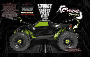TRAXXAS MAXX 4S 1/10 CHASSIS / SHOCK TOWER PRINTED CARBON FIBER SKIN DECAL GRAPHICS KIT - Darkside Studio Arts LLC.