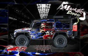 "TRAXXAS TRX-4 GRAPHICS WRAP DECALS ""RIPPER"" FITS DEFENDER BLAZER AND SPORT - Darkside Studio Arts LLC."