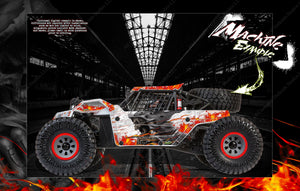 LOSI SUPER BAJA REY / SUPER ROCK REY WRAP DECAL KIT 'HELL RIDE' FITS LOS250035 / LOS350002 - Darkside Studio Arts LLC.