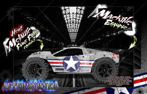 TRAXXAS E-REVO / E-REVO 2.0 / RUSTLER / RUSTLER 4x4 GRAPHICS WRAP 'AFTERBURNER' SKIN - Darkside Studio Arts LLC.