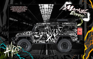"TRAXXAS TRX-4 GRAPHICS WRAP DECALS ""AMPED"" FITS DEFENDER AND SPORT - Darkside Studio Arts LLC."