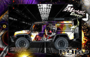 "TRAXXAS TRX-4 GRAPHICS WRAP DECALS HOP-UP PARTS ""PYRO"" FITS DEFENDER K5 BLAZER AND SPORT - Darkside Studio Arts LLC."