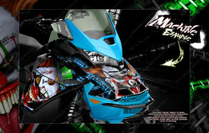 SKI-DOO GEN 4 PARTIAL WRAP GRAPHICS KIT FOR MXZ SUMMIT RENEGADE ADRENALINE 'STIFF UPPER LIP' - Darkside Studio Arts LLC.
