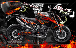 "KTM DUKE 790 DUKE 1290 / 1290GT ""HELL RIDE"" GRAPHICS DECALS WRAP 2017-2019 - Darkside Studio Arts LLC."