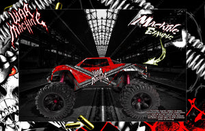 TRAXXAS X-MAXX HOP UP BODY GRAPHIC SKIN WRAP ACCENT KIT 'WAR MACHINE' FOR UNBREAKABLE AND STOCK BODY - Darkside Studio Arts LLC.