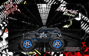 AXIAL BOMBER WRAITH YETI SCX10 JEEP HOP UP BODY GRAPHIC SKIN WRAP ACCENT KIT 'WAR MACHINE' - Darkside Studio Arts LLC.