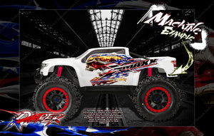 TRAXXAS X-MAXX UNBREAKABLE AND LEXAN BODY HOP UP GRAPHICS 'RIPPER' MINI-KIT - Darkside Studio Arts LLC.