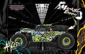 LOSI SUPER BAJA REY / SUPER ROCK REY WRAP DECAL KIT 'AMPED' FITS LOS250035 / LOS350002 - Darkside Studio Arts LLC.