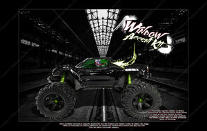 TRAXXAS X-MAXX SUMMIT E-REVO RUSTLER SLASH E-MAXX HOP UP WINDOW CLOWN DECAL GRAPHICS - Darkside Studio Arts LLC.