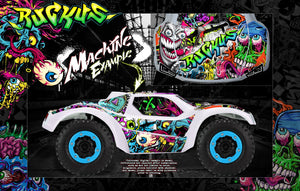 PRO-LINE BRUTE BASH BODY GRAPHICS FOR TRAXXAS SLASH 4X4 SLASH 2WD PRO-FUSION 'RUCKUS' - Darkside Studio Arts LLC.