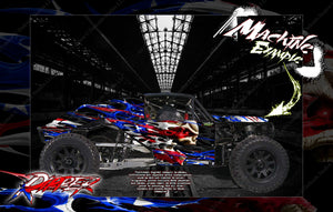 KRAKEN VEKTA.5 / SIDEWINDER / TSK B CLASS 1 BODY PANEL WRAP DECAL KIT 'RIPPER' HPI - Darkside Studio Arts LLC.