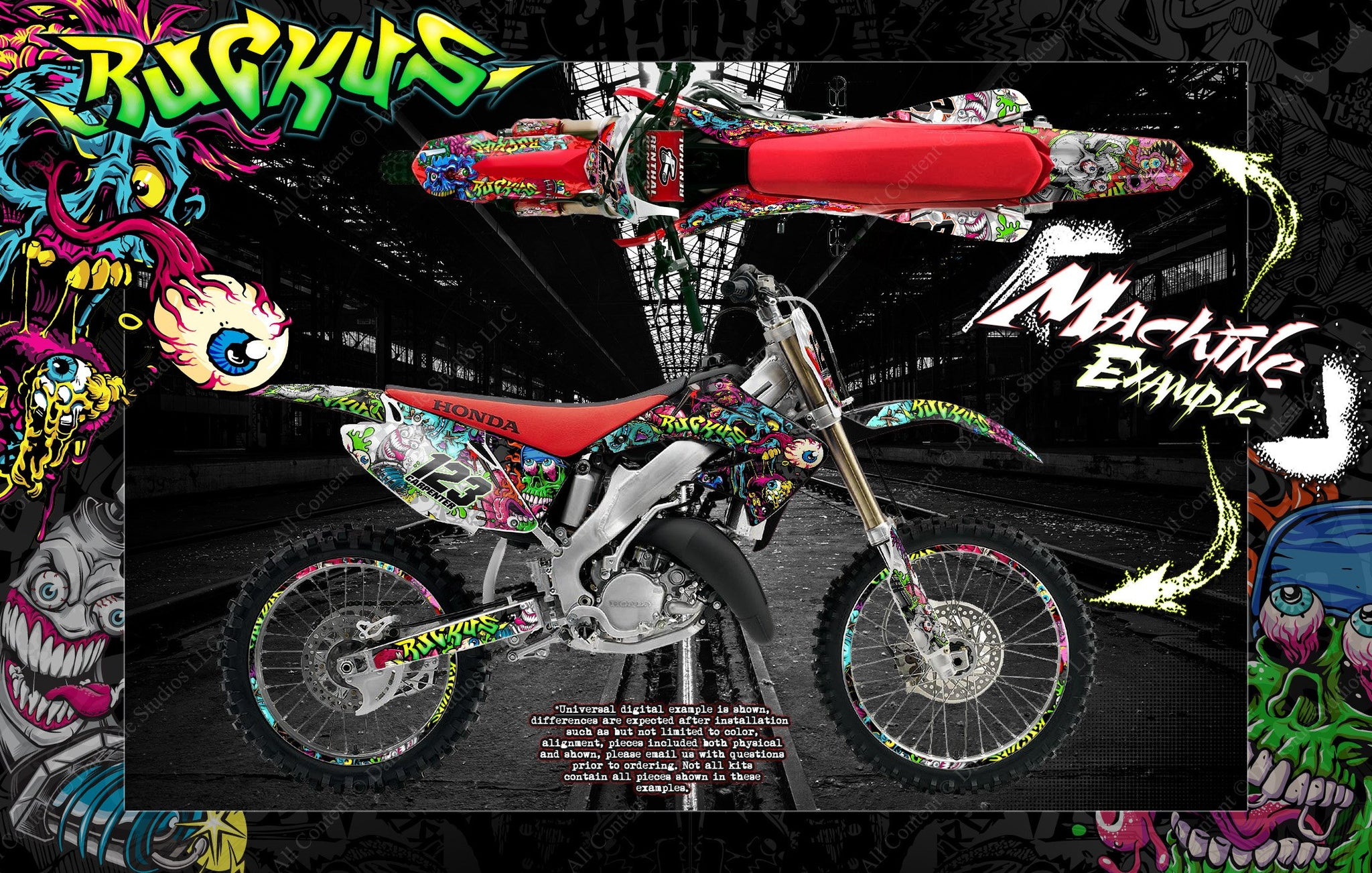 HONDA 1998-1999 CR125 & 1997-1999 CR250 GRAPHICS & DECALS