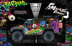 "TRAXXAS TRX-4 GRAPHICS WRAP DECALS ""RUCKUS"" FITS DEFENDER BLAZER AND SPORT - Darkside Studio Arts LLC."