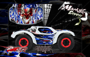PRO-LINE BRUTE BASH BODY GRAPHICS FOR TRAXXAS SLASH 4X4 SLASH 2WD PRO-FUSION 'RIPPER' - Darkside Studio Arts LLC.