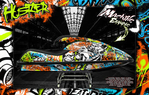KAWASAKI SX-R 800 2003-2012 JETSKI WATERCRAFT DECALS WRAP GRAPHICS KIT 'HUSTLER' - Darkside Studio Arts LLC.