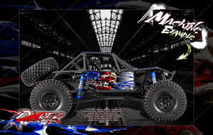 "AXIAL RR10 BOMBER GRAPHICS WRAP DECAL SKIN KIT ""RIPPER"" KIT FITS OEM BODY AX90053 - Darkside Studio Arts LLC."