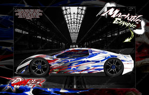 "TRAXXAS XO-1 HOP-UP GRAPHICS WRAP DECALS ""RIPPER"" FITS TRAXXAS 6411 CLEAR LEXAN BODY - Darkside Studio Arts LLC."