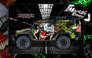 "TRAXXAS TRX-4 GRAPHICS WRAP DECALS ""STIFF UPPER LIP"" FITS DEFENDER K5 BLAZER AND SPORT - Darkside Studio Arts LLC."