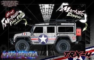 "TRAXXAS TRX-4 ""AFTERBURNER"" GRAPHICS WRAP DECALS FITS DEFENDER K5 BLAZER AND SPORT - Darkside Studio Arts LLC."